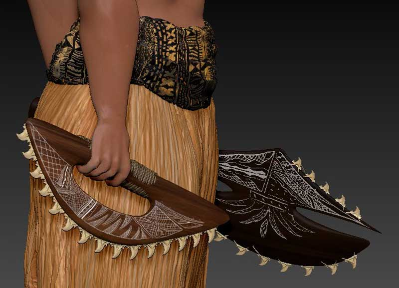 Оружие Lei-o-mano культуры LUA