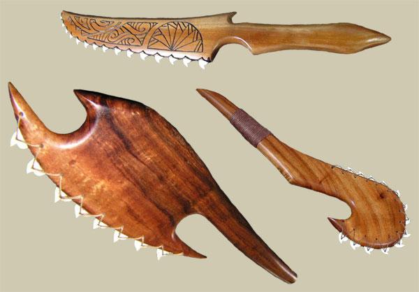 Боевой топор из зубов акулы